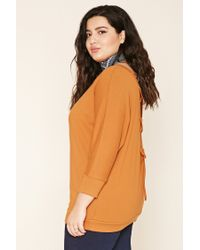 Forever 21 - Multicolor Plus Size Lace-up Sweatshirt Top - Lyst