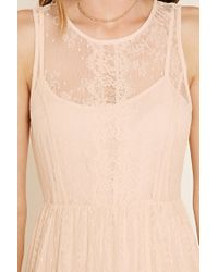 Forever 21 - Pink Contemporary Eyelash Lace Dress - Lyst