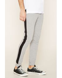 Forever 21 | Black Paneled French Terry Joggers for Men | Lyst