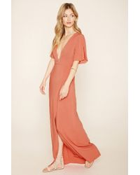 Forever 21 - Orange Contemporary Belted Maxi Dress - Lyst