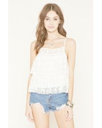 Forever 21   Natural Lace Babydoll Cami   Lyst