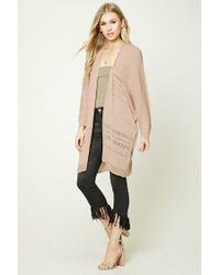 Forever 21 | Natural Open-knit Dolman Cardigan | Lyst