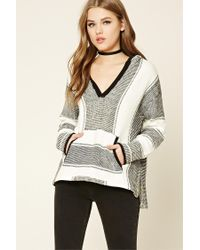 Forever 21 | Multicolor Contrast Striped Pullover | Lyst
