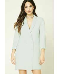 Forever 21 | Multicolor Double-breasted Longline Blazer | Lyst