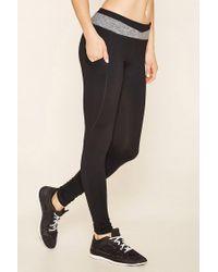 Forever 21 | Black Active Colorblock Leggings | Lyst