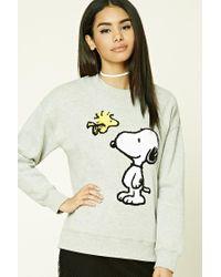 Forever 21 | Gray Snoopy Woodstock Sweatshirt | Lyst