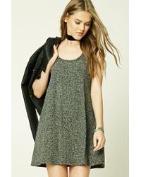 Forever 21 | Green Marled Knit Tank Dress | Lyst