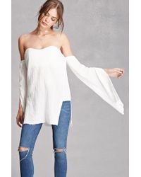 Forever 21 | White Off-the-shoulder Sweetheart Top | Lyst