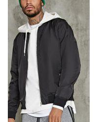 Forever 21 | Black Zip-front Bomber Jacket for Men | Lyst