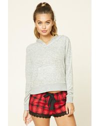 Forever 21 | Gray Marled Knit Pj Hoodie | Lyst