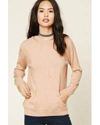 Forever 21 | Pink Sweater Knit Hoodie | Lyst