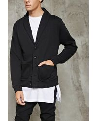 Forever 21   Black Shawl-collar Buttoned Cardigan for Men   Lyst