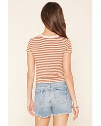 Forever 21 | Multicolor Striped Knit Tee | Lyst