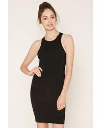 Forever 21   Black Stretch Knit Bodycon Dress   Lyst