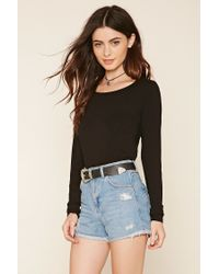 Forever 21   Black Strappy Back Knit Top   Lyst