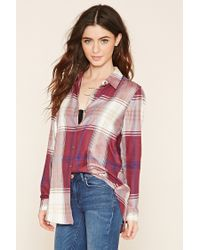 Forever 21 | Multicolor Plaid Button-front Shirt | Lyst