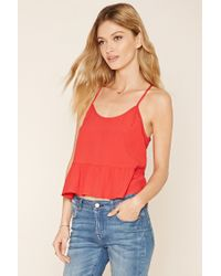 Forever 21 | Red Contemporary Strappy-back Cami | Lyst