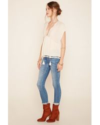 Forever 21 - Multicolor Contemporary Tasseled Peasant Blouse - Lyst