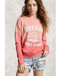 Forever 21 | Red Oregon West Coast Sweatshirt | Lyst