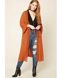 Forever 21 | Orange Plus Size Crochet Cardigan | Lyst