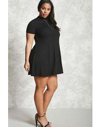Forever 21 | Black Plus Size Mock Neck Dress | Lyst