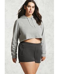 Forever 21 | Gray Plus Size French Terry Shorts | Lyst