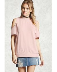 Forever 21 | Pink Contemporary Faded Sweatshirt | Lyst