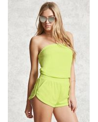 6fb69f7b22 Forever 21. Women's Terry Cloth Cover-up Romper
