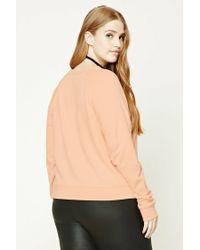 Forever 21 Multicolor Women's Plus Size Raglan Sweatshirt