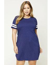 Forever 21 | Blue Plus Size Varsity T-shirt Dress | Lyst