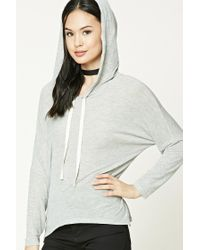 Forever 21 | Gray Heathered Knit Hoodie | Lyst