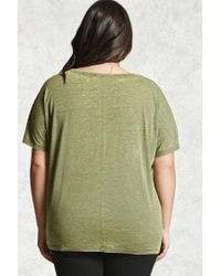 Forever 21 | Green Plus Size Faded Burnout Top | Lyst