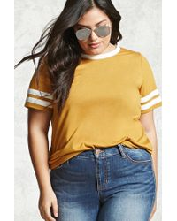 Forever 21 | Multicolor Plus Size Varsity Stripe Tee | Lyst