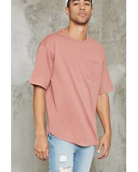 Forever 21 | Purple Oversized Pocket Tee for Men | Lyst