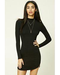 Forever 21 | Black High Neck Bodycon Dress | Lyst