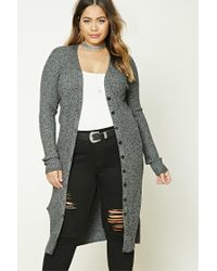 Forever 21 | Gray Plus Size Button-down Cardigan | Lyst