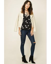 Forever 21 - Black Contemporary Bird Print Top - Lyst
