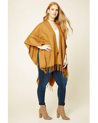 Forever 21 | Multicolor Plus Size Fringed Shawl | Lyst