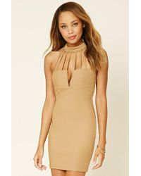 Forever 21   Natural Rare London Cutout Dress   Lyst