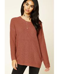 Forever 21 | Multicolor Purl Knit Cutout Sweater | Lyst