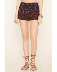 Forever 21 - Multicolor Abstract Print Dolphin Shorts - Lyst