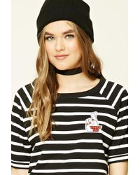Forever 21   Black Striped Love Patch Tee   Lyst