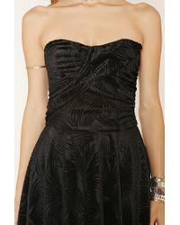 Forever 21 - Black Velvet Tube Dress - Lyst