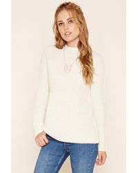 Forever 21   Natural Ribbed Knit Sweater   Lyst