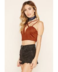 Forever 21 - Multicolor Faux Suede Cropped Cami - Lyst