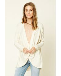 Forever 21 | Natural Contemporary Twist-hem Sweater | Lyst