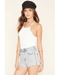 Forever 21 | White Ribbed Sweater-knit Crop Top | Lyst