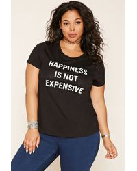 Forever 21 | White Plus Size Happiness Tee | Lyst