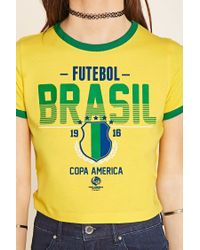 Forever 21 | Multicolor Brasil Graphic Tee | Lyst
