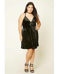 9408cdcc164d0 Lyst - Forever 21 Plus Size Crushed Velvet Dress in Black